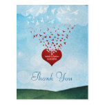 Your Love Gives Me Wings Wedding Thank You Post Cards