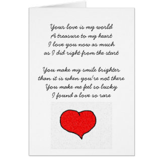 Your love is my world card