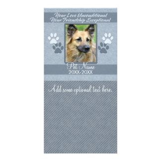 Your Love Unconditional Pet Sympathy Custom Card