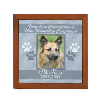 Your Love Unconditional Pet Sympathy Custom Pencil Holder