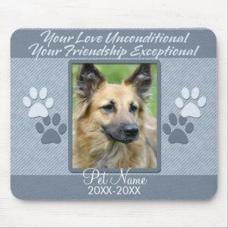 Your Love Unconditional Pet Sympathy Custom Mouse Pad