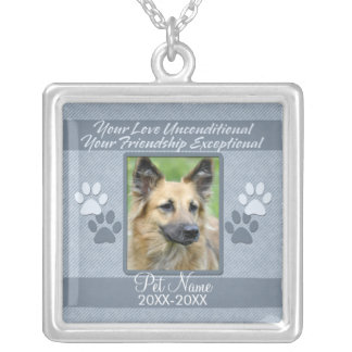 Your Love Unconditional Pet Sympathy Custom Custom Necklace