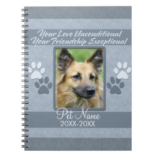 Your Love Unconditional Pet Sympathy Custom Notebook