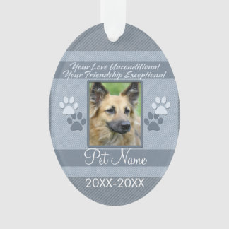 Your Love Unconditional Pet Sympathy Custom Ornament