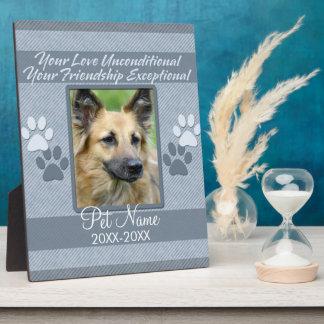 Your Love Unconditional Pet Sympathy Custom Plaque