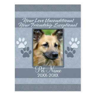 Your Love Unconditional Pet Sympathy Custom Postcard