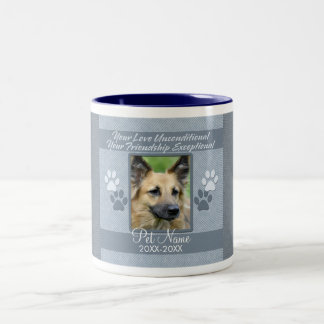 Your Love Unconditional Pet Sympathy Custom Two-Tone Coffee Mug