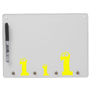 Your Lucky Number & Color. Dry Erase Board With Keychain Holder