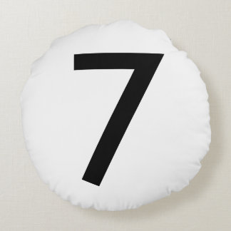 Your Lucky Number & Color. Round Pillow