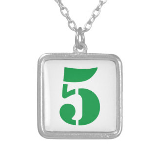 Your Lucky Number & Color. Silver Plated Necklace