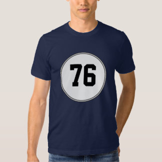 "Your Lucky Number in a Circle - For Example ""76"" T Shirt"