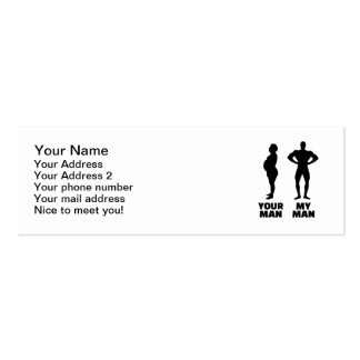 Your man my man husband Double-Sided mini business cards (Pack of 20)