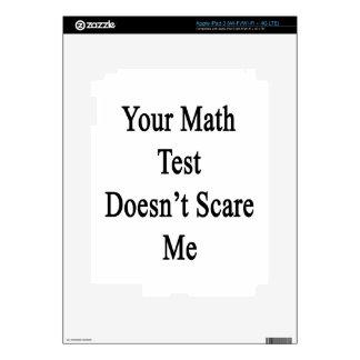 Your Math Test Doesn't Scare Me Skins For iPad 3