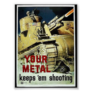 Your Metal Keep 'Em Shooting Print
