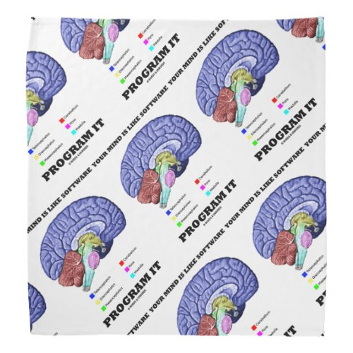 Your Mind Is Like Software Program It Brain Advice Bandana