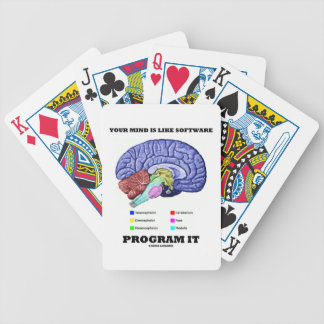 Your Mind Is Like Software Program It (Brain) Bicycle Playing Cards
