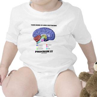 Your Mind Is Like Software Program It (Brain) Tshirt
