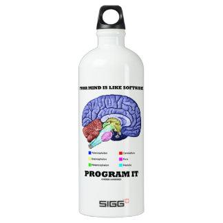 Your Mind Is Like Software Program It (Brain) Water Bottle