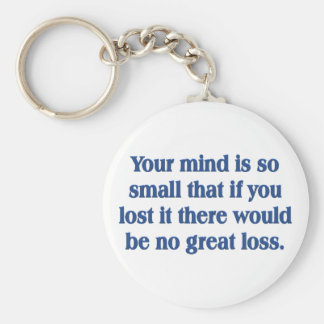Your mind is so small keychains