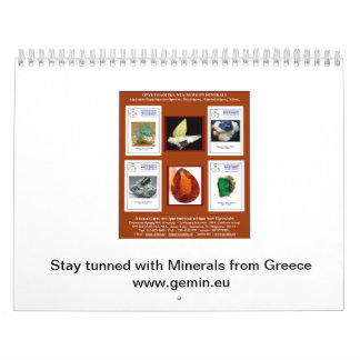 Your Mineralogical Calendar from Greece