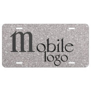 Your Mobile Logo For Business On The Road License Plate at Zazzle