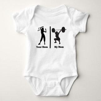 Your Mom My Mom Funny Fitness Baby Bodysuit