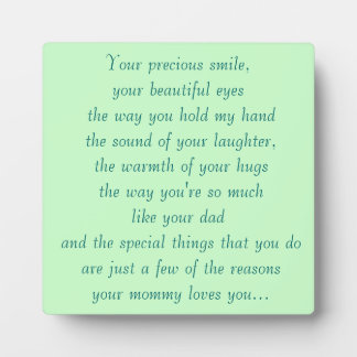 your mommy loves you display plaques