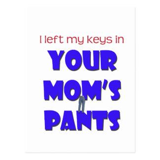 Your Mom's Pants Postcard