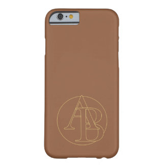 """Your monogram """"A&B"""" one """"iced coffee"""" background Barely There iPhone 6 Case"""