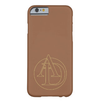 """Your monogram """"A&D"""" on """"iced coffee"""" background Barely There iPhone 6 Case"""