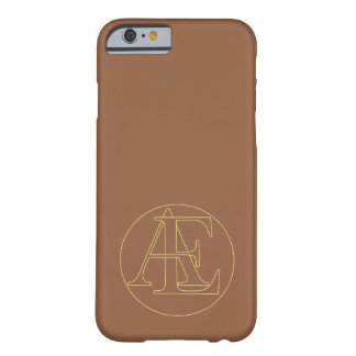 """Your monogram """"A&E"""" on """"iced coffee"""" background Barely There iPhone 6 Case"""