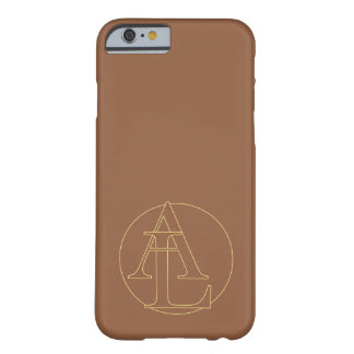 """Your monogram """"A&L"""" on """"iced coffee"""" background Barely There iPhone 6 Case"""