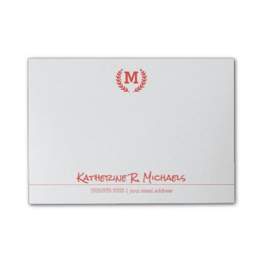 monogram_bouquet Your Monogram And Information Post-it® Notes