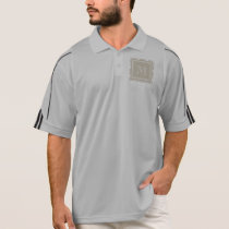 Your Monogram, Beige Damask Pattern 2 Polo Shirt