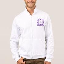 Your Monogram, Dark Purple Damask Pattern 2 Jacket