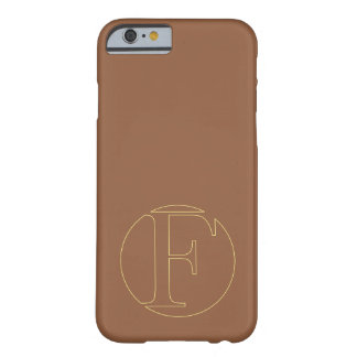 """Your monogram """"F"""" on """"iced coffee"""" background Barely There iPhone 6 Case"""