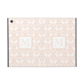 Your Monogram, Flesh Pink Damask Pattern 2 Cover For iPad Mini