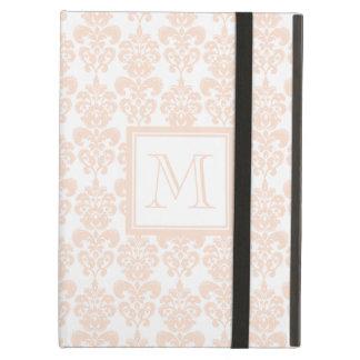Your Monogram, Flesh Pink Damask Pattern 2 iPad Air Cover