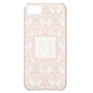 Your Monogram, Flesh Pink Damask Pattern 2 iPhone 5C Case
