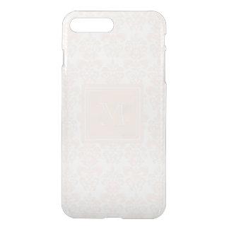 Your Monogram, Flesh Pink Damask Pattern 2 iPhone 8 Plus/7 Plus Case