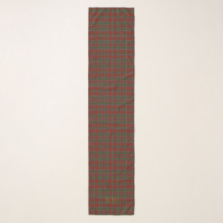 Your monogram / initials on Birral Clan Tartan Scarf