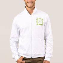 Your Monogram, Light Green Damask Pattern 2 Jacket