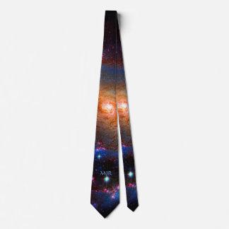 Your monogram on Barred Spiral Galaxy Neck Tie