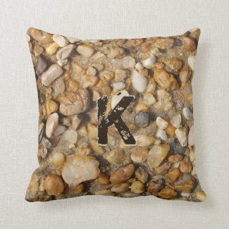 Your MONOGRAM on Pebble Pillows for Men