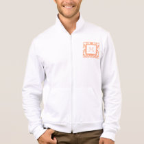 Your Monogram, Orange Damask Pattern 2    Product Jacket