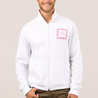 Your Monogram, Pink Damask Pattern 2 Printed Jacket