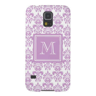 Your Monogram, Purple Damask Pattern 2 Galaxy S5 Cover