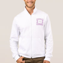Your Monogram, Purple Damask Pattern 2 Jacket
