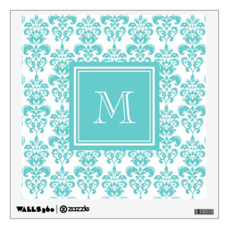 monogrammed damask wall decals wall stickers zazzle