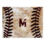Your Monogram Vintage Baseball Post Cards Postcard